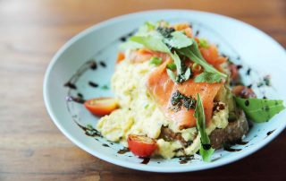 Smoked Salmon and scrambled eggs