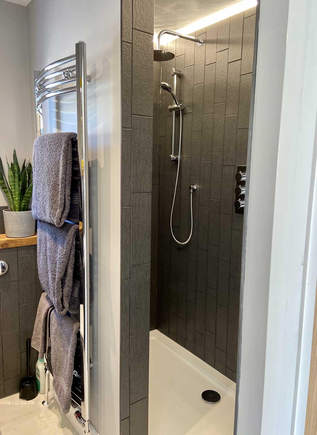 driftwood shower